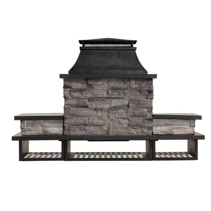 Quillen Steel Wood Burning Outdoor Fireplace in 2020 ... on Quillen Steel Wood Burning Outdoor Fireplace id=71202
