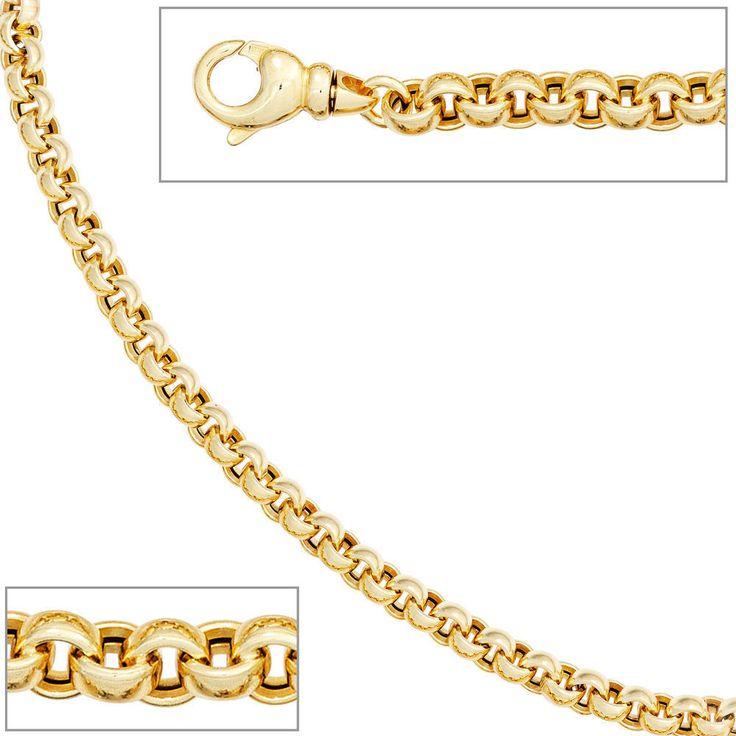 NEU 6 mm Erbskette 585 Gelbgold 45 cm echt Gold Kette Halskette 14 Karat 27,7 G