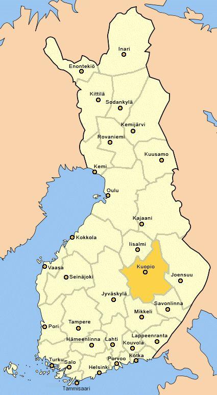 Kuopio, map