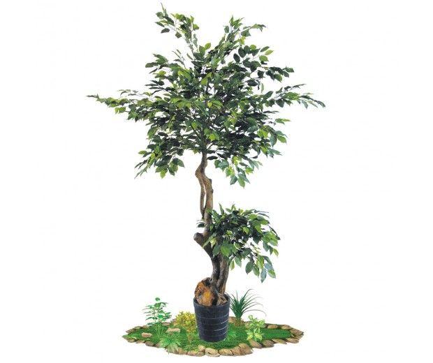 artificial banyan tree indoors spacegreen