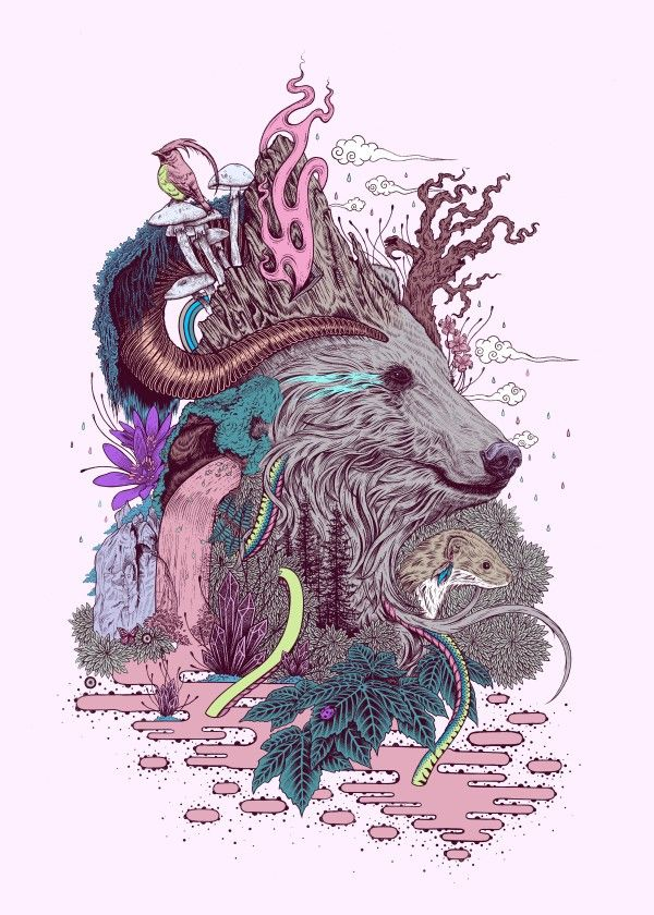 """Forest Warden"" metal poster by Mat Miller #animal"
