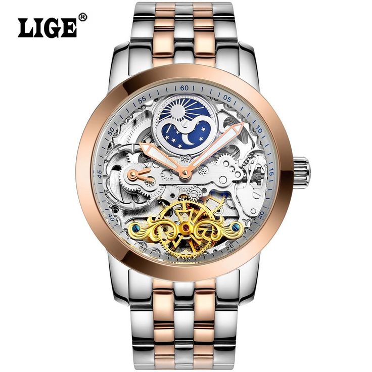LIGE Mens High Quality Tourbillon Automatic mechanical Watches Men Top Brand Luxury Dive 50M Business full steel watch Man Clcok  #me #men #fishingrod #Samsungs7edge #fishermen #fishing #free #fishingline #mensfashion #schoolbackpacks #Samsungs8 #money #smartwatch #iPhone #kids