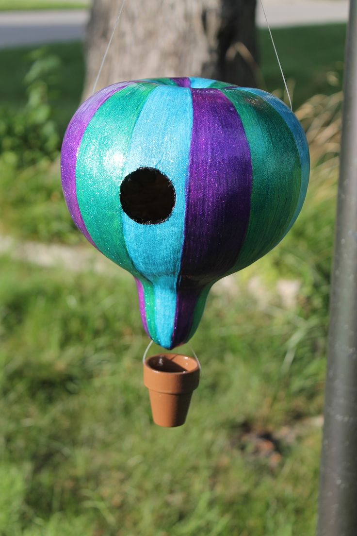 Hot Air Balloon Gourd Birdhouse