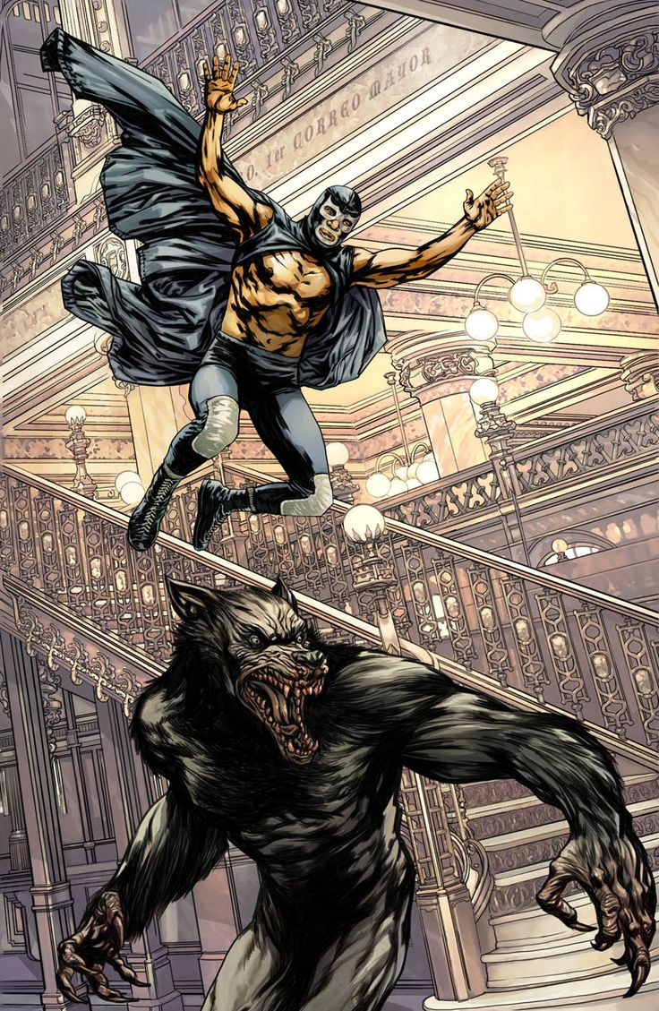 blue demon vs werewolf comics all day all night