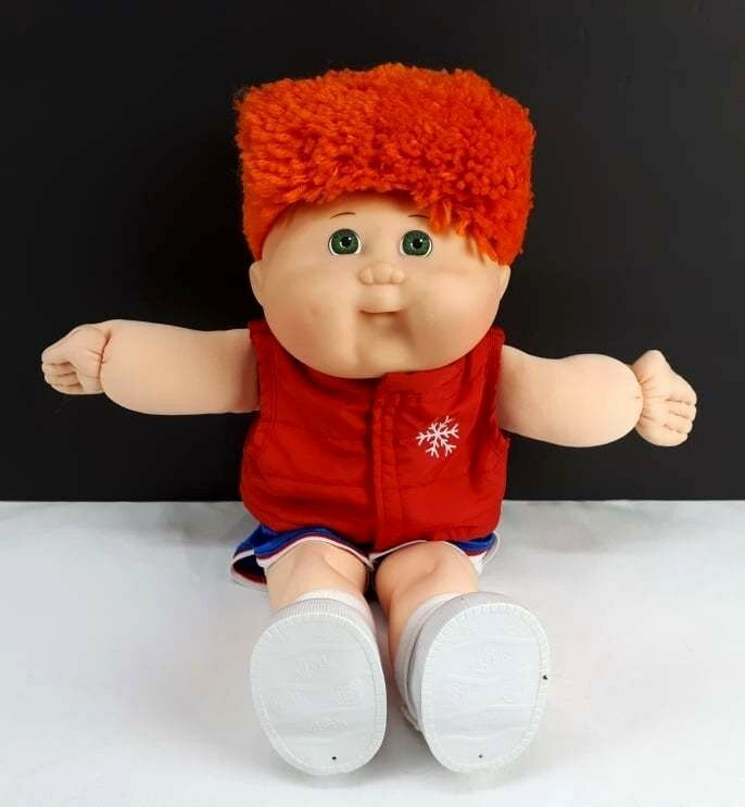 Vintage 1996 Cabbage Patch Kids Doll Boy Red Hair Green Eye Sport Outfit 16 Cabbagepatchkids Cabbage Patch Kids Dolls Cabbage Patch Kids Red Hair Green Eyes