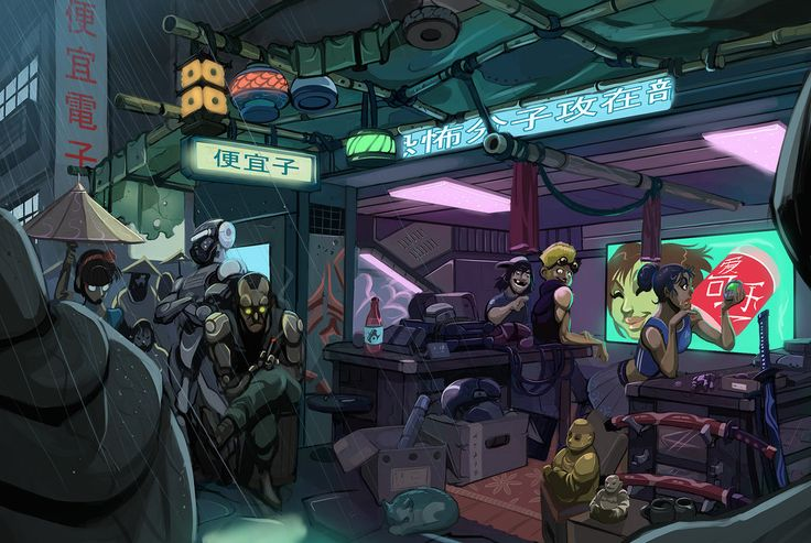 #Cyberpunk: Cyberpunk Atmosph, Cyber Shops By Sc4V3Ng3R Jpg, Cyberpunk Environment, Cyberpunk Aesthetics, Cyberpunk Shops, Cyberpunk Art, Sc4V3Ng3R Deviantart Com, Shadowrun Online, Cyber Osc