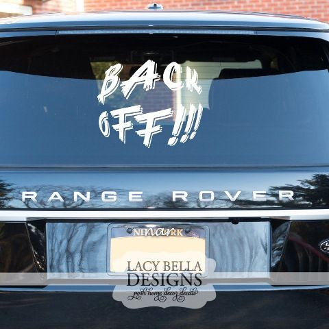 Custom Car Decal Lettering