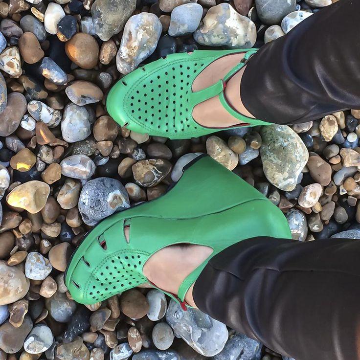 Tru Lavina Blog - Blanche Emerald Wedges by Preston Zly Design