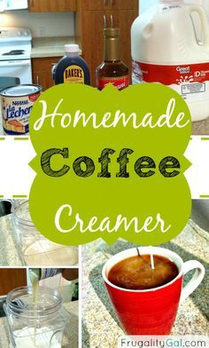 Homemade Coffee Creamer. Adjustments for both caramel coffee creamer and vanilla flavored.