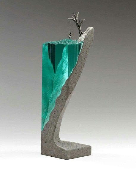 Ben Young combines glass and concrete in to surprising works of art #artpeople
