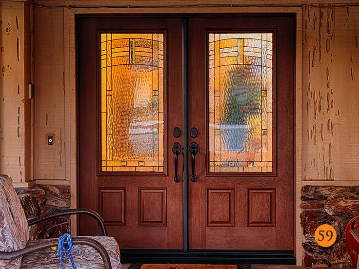 6 foot Double Entry Doors with 3/4 glass - Todays Entry Doors