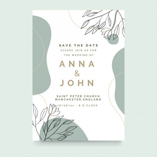 Download Elegant Wedding Invitation Template With Nature Concept For Free In 2020 Wedding Invitation Templates Floral Wedding Invitation Card Watercolor Floral Wedding Invitations