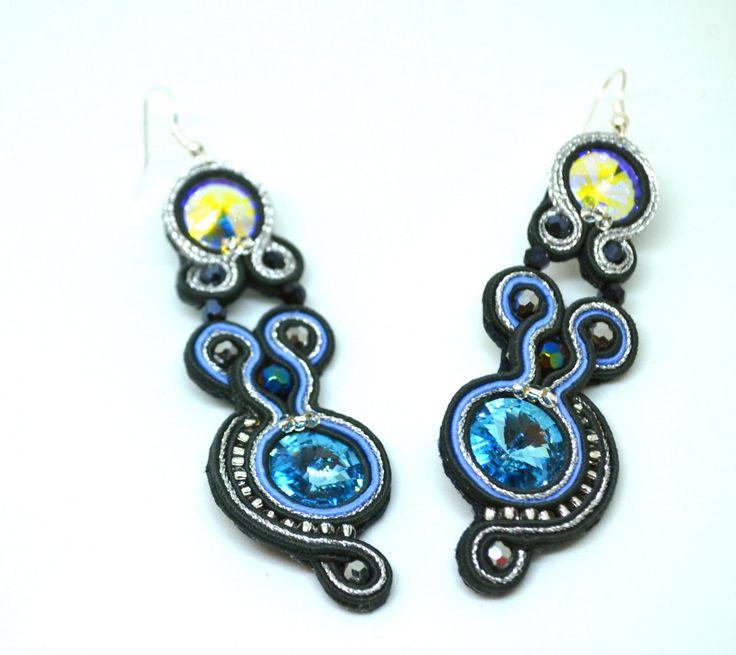 Soutache earrings by MarutasJewellery on Etsy