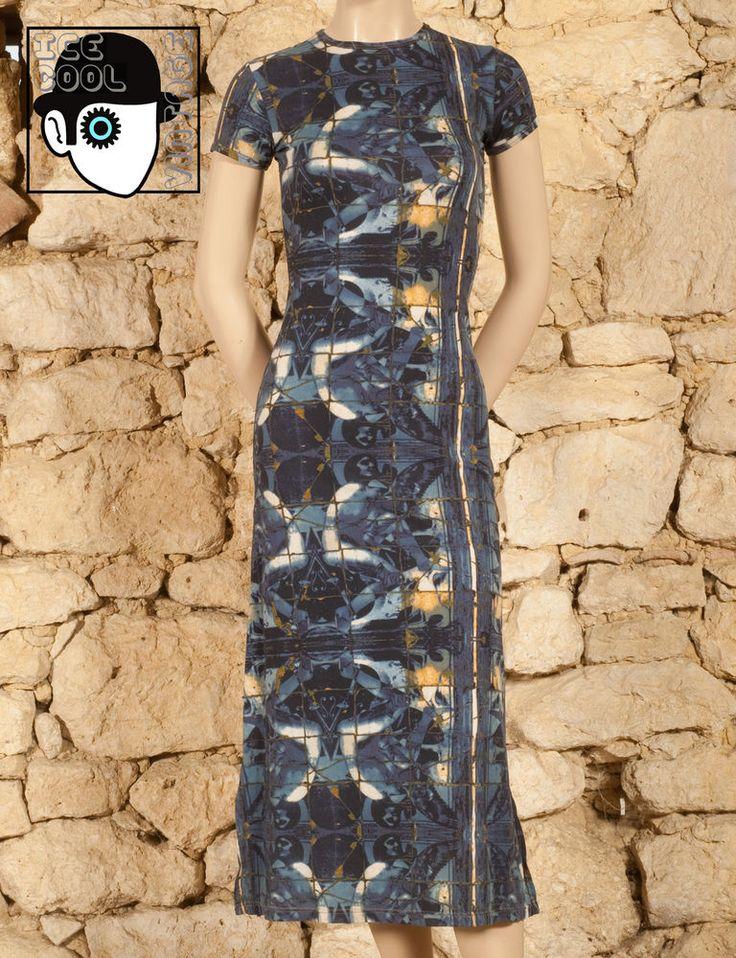 'JEAN PAUL GAULTIER - GAULTIER JEAN'S' 90s EVENING DRESS - UK 8 or 10 - (Z) #JeanPaulGaultier