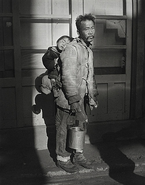 Josef Breitenbach, Mendicant (War Refugee Father and Child), Pusan, Korea, 1953, photograph, Gift of Peter C. Jones, M.2001.204.3. © Joseph Breitenbach Trust, New York