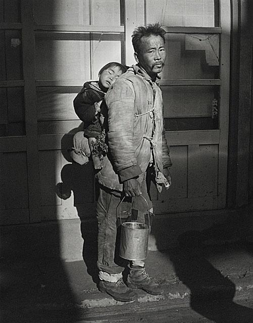 Josef Breitenbach, Mendicant (War Refugee Father and Child), Pusan, Korea, 1953, photograph, Gift of Peter C. Jones, M.2001.204.3. © Joseph Breitenbach Trust, New York. S)