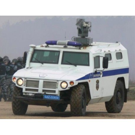 The Armoured Law Enforcement Vehicle VEPER-6 is designed for transportation of law enforcement personnel and various types of cargo on both urban and off-road terrain. The vehicle can be equipped with sirens and light, search lights and other necessary equipment for police/swat in the field. Driver and personal are highly protected against bullets or other dangerous due to its armoured exterior.
