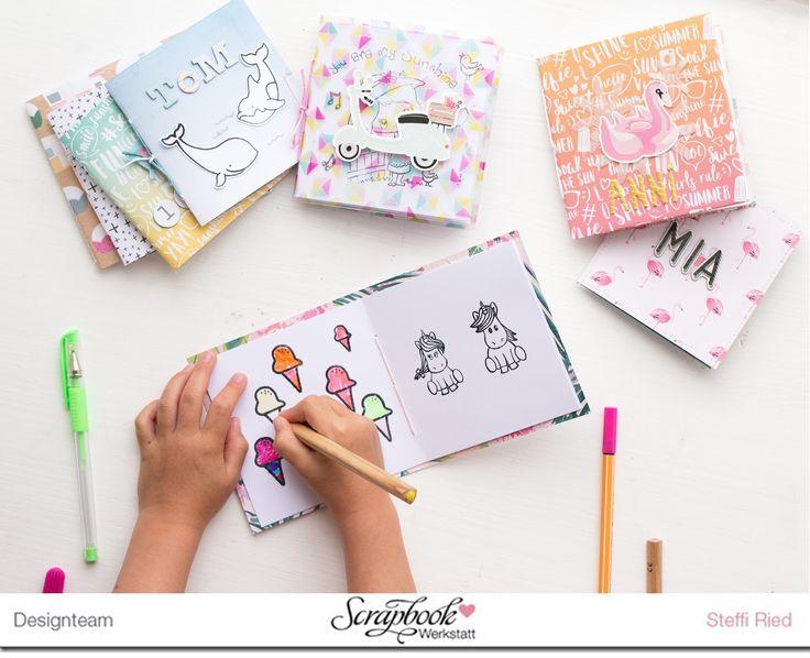 """Hallo Ihr Lieben,  in der Inspirationsgalerie der Scrapbook Werkstatt  habe ich wieder einen neuen Beitrag zum Thema """"Minialben"""" eingeste..."""