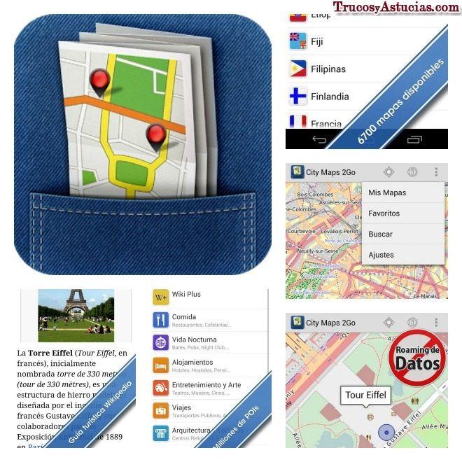 App para #viajar con #mapas offline, sin necesidad de estar conectados a internet ►http://trucosyastucias.com/consejos-para-viajar/viajar-con-mapa #trucos #consejos