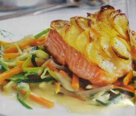 Rezept Lachsfilet mit Kartoffelkruste von Damapali - Rezept der Kategorie Hauptgerichte mit Fisch & Meeresfrüchten