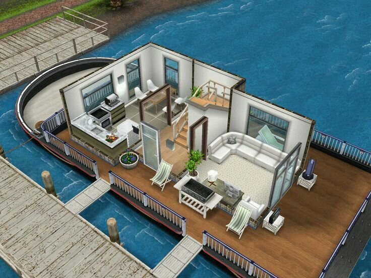 Sims FreePlay house boat  See More  Casa barco 1er piso. 132 best Sims freeplay houses images on Pinterest   Sims house