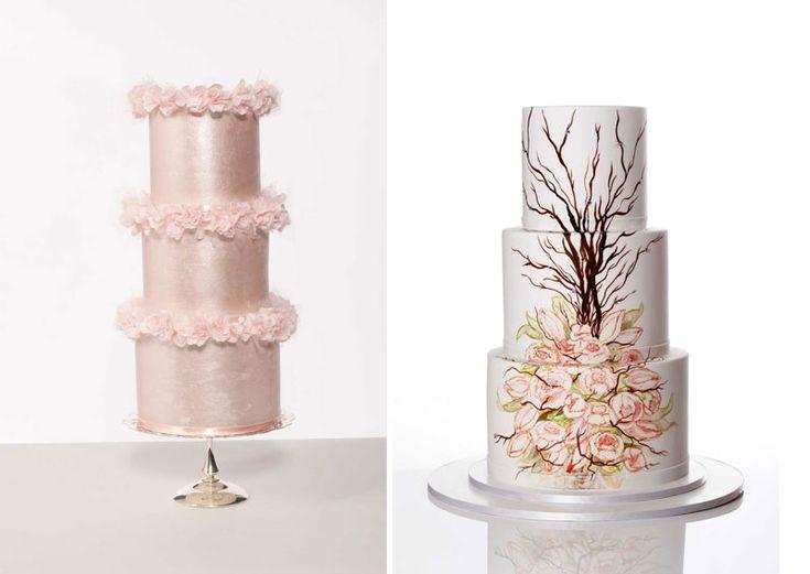 Wedding cake modern  Die besten 25+ Contemporary wedding cakes Ideen nur auf Pinterest ...