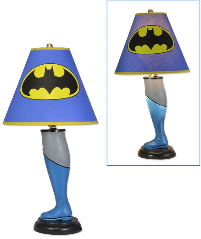 Batman and Superman Leg Lamps Inspired by 'A Christmas Story'