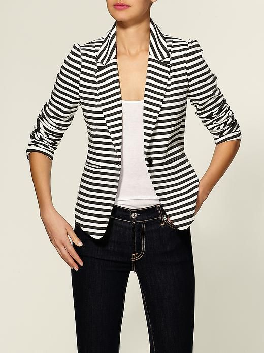 tinley road striped blazer: Light Pink Blazers, Clothing, Black And White, Dresses, Black White, Bleecker Blazers, Stripes Blazers, Tinley Roads, Stripes Jackets