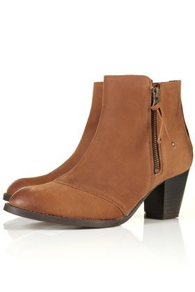 MIGHTY Tan Leather Zip Boots - love these and really need some new smart boots!