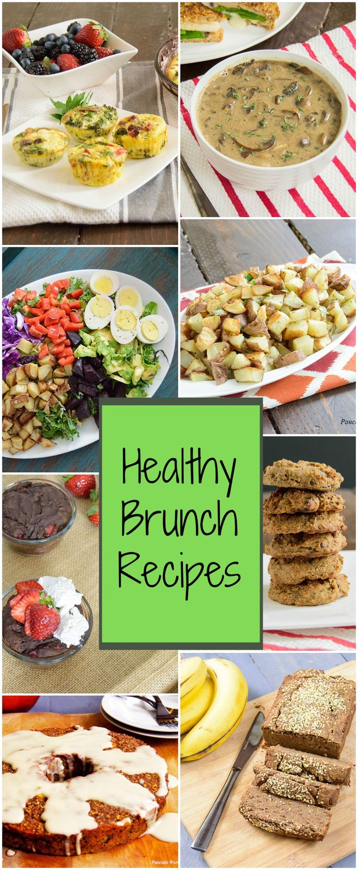 Healthy Brunch Recipes - collection of healthy brunch ideas that you can make ahead for a flawless healthy brunch!