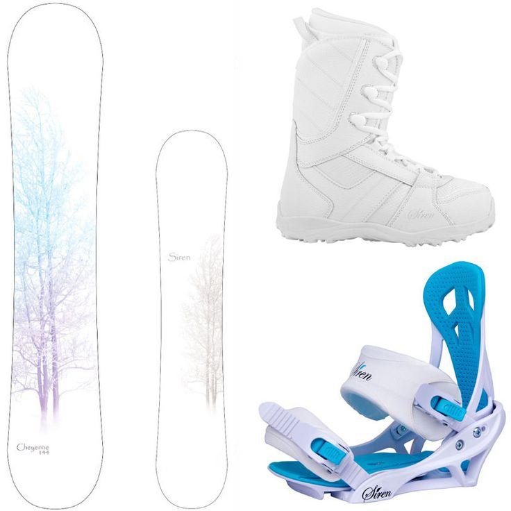 New 2015 Siren Cheyenne Women's Snowboard Package + Mystic Bindings + Lux Boots in Snowboards | eBay