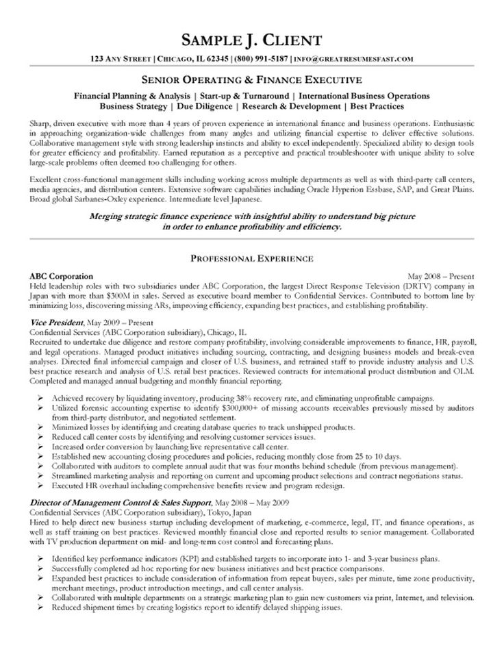 Free Executive Resume