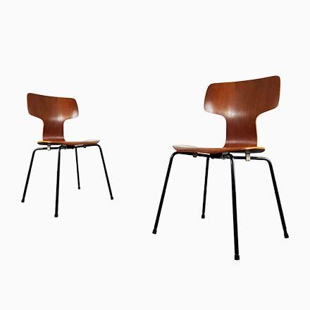 Modell 3103 Hammer Stühle von Arne Jacobsen für Fritz Hansen, 1960er, ... Jetzt bestellen unter: https://moebel.ladendirekt.de/kueche-und-esszimmer/stuehle-und-hocker/esszimmerstuehle/?uid=ef1c13b5-fdfd-5693-9325-722b3f21333c&utm_source=pinterest&utm_medium=pin&utm_campaign=boards #kueche #esszimmerstuehle #esszimmer #hocker #stuehle