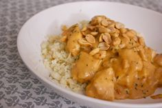 Kylling i cremet peanutsauce