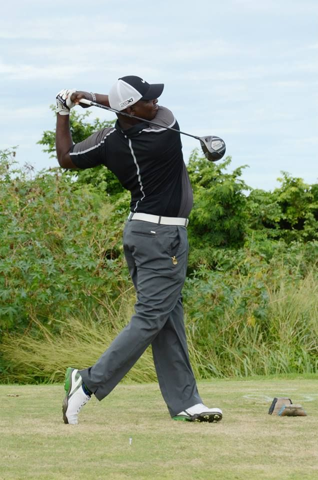 Andrew Ximines playing at the Jamaica Pro-Am in Montego Bay