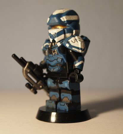 Halo 4 Spartan Warrior Custom Minifigure
