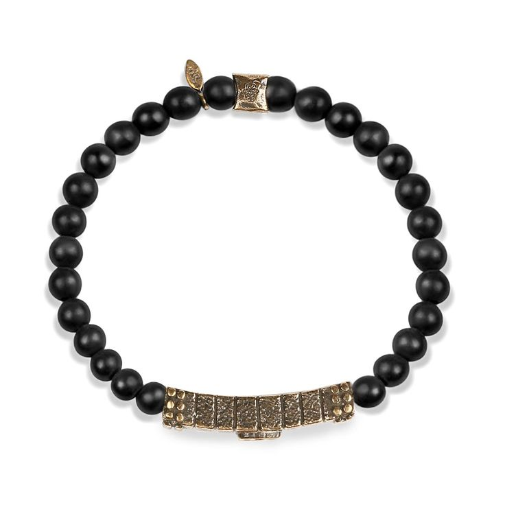 """It's the unknown that draws people. Tap into the dreamy and rich mind of Scorpio with the enchanting Onyx. Dark and matte, it resembles the mystery, yet the appeal of this powerful sign. The """"Passionate Feeling - Scorpio Black Onyx Zodiac Bracelet"""" is the essential accessory for a high-impact aura and Scorpios' effect. Sign: ScorpioQuality: FixedElement: WaterRuler: Pluto, MarsStrengths: Resourceful, brave, passionate, stubborn, a true friend Matte Black Onyx: endurance, perseverance, grounding."""