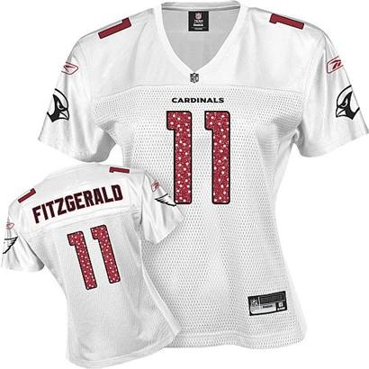 8ea55613 arizona cardinals 11 larry fitzgerald white fem fan womens jersey