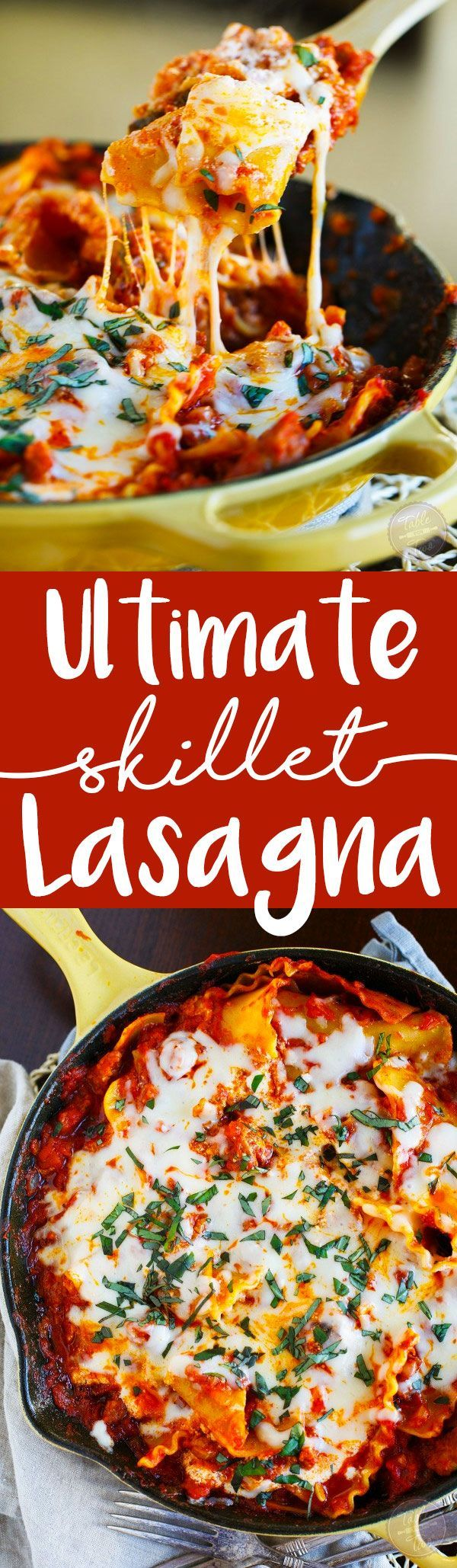 Ditch that casserole dish and grab your skillet! This ultimate skillet lasagna is going to change the way you make lasagna forever!