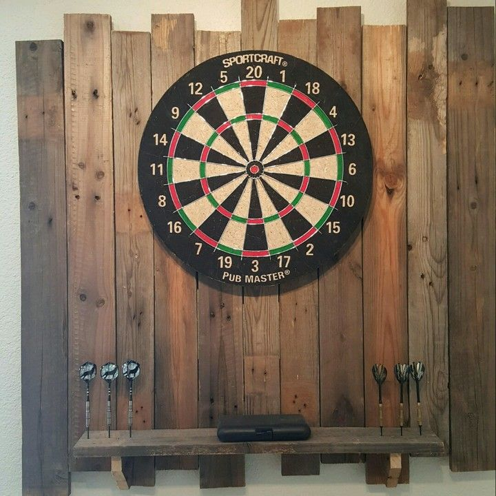 Rustic dartboard back will add