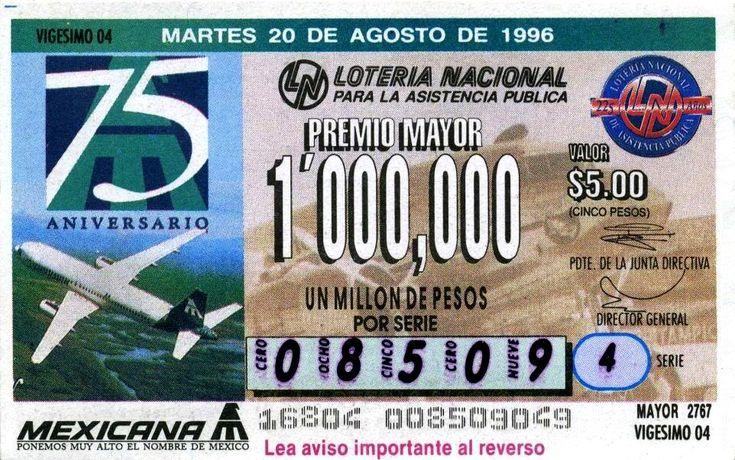 Billete de lotería: Lotería Nacional (Lotería Nacional para la Asistencia Pública, Desconocido) (Lotería Nacional Fracciones) Col:ME-0001