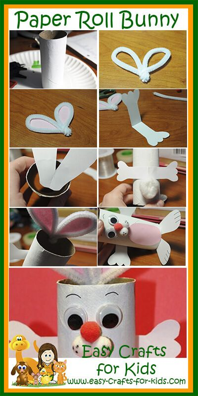 Welcome spring with these cute bunny crafts for kids - fun for spring or Easter!