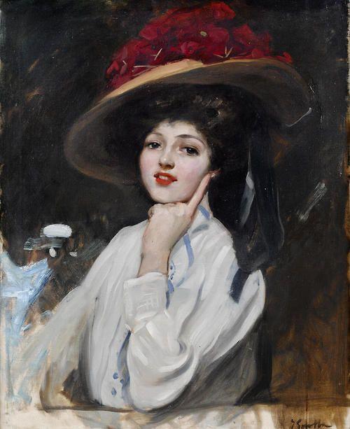 Joaquin Sorolla y Bastida (1863-1923) . La bella Raquel. Obtiene un gran éxito con los retratos, sin embargo, lo que más le gustaba era pintar al aire libre. Durante los veranos se marchaba con su familia a algún lugar de la costa o el campo donde aprovechaba para pintar la mayoría de los cuadros que posteriormente llevaba a las exposiciones internacionales.