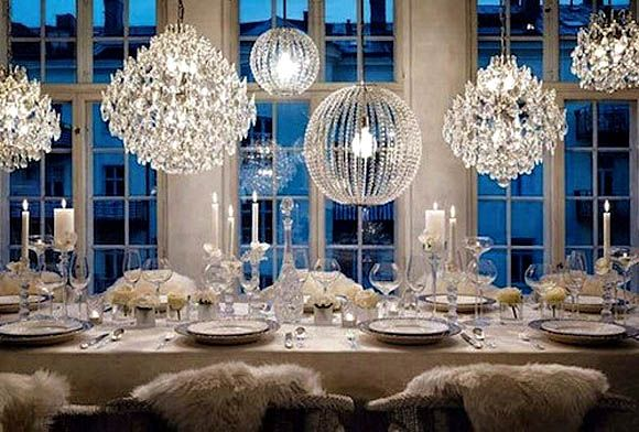 love the lights: Decor, Lights, Crystals, Ideas, Winter Wonderland, Winter Wedding, Dinners Parties, New Years