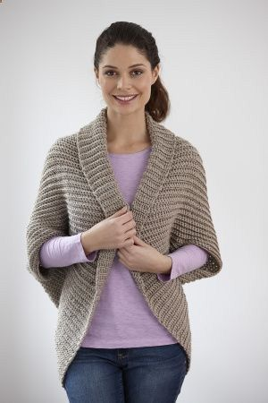 Canyon Shrug--it's actually a crochet pattern, but it gives the basic rectangle…