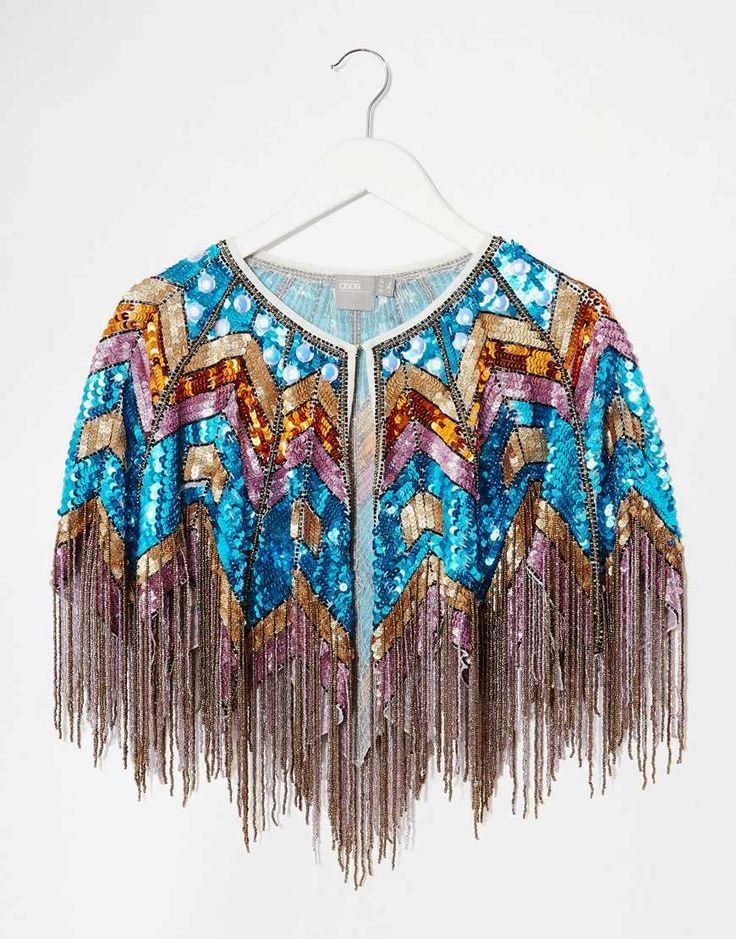 Image 3 of ASOS Multi Color Sequin Cape