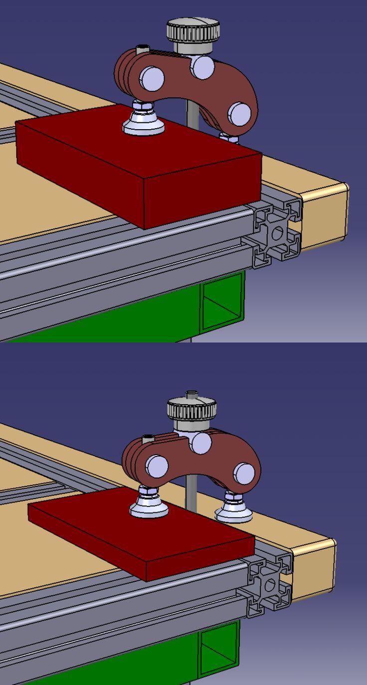 Bridage sur établi - workbench clamp - hold down clamp