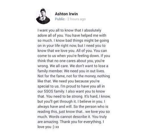 We love you too xx @5sosashtonirwin<<< and my parents tell me that they don't care about me or what happens to me