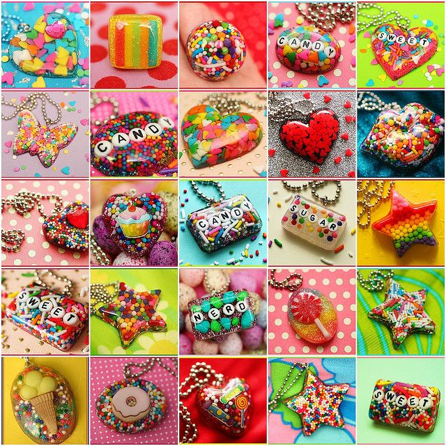 Resin charms filled with candy sprinkles! I can't wait to try some of these.