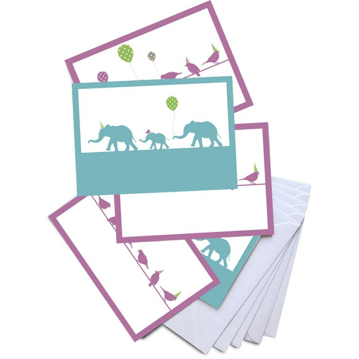 Greetings cards available in bird and elephant designs, new for Spring/ Summer 2014 by Pigeon. For every card sold a donation is  made to Medecins Sans Frontieres,  the charity which provides medical  aid where it is most needed.